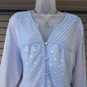 NY Collection Blouse Shirt Top XL